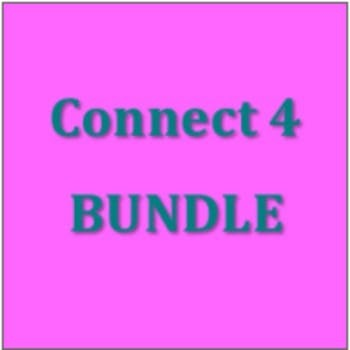 Connect 4 Verb Games in French Bundle