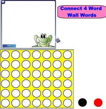 Smartboard: Connect 4 Word Wall Words