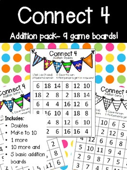 Connect 4- addition 9 games #christmascountdown