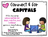 Connect 4 for Capitals! Low-Prep Game for Capitals for Day