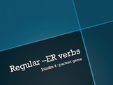 Connect 4 game for regular -ER verbs