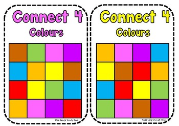 Connect 4 in a Row - Colours