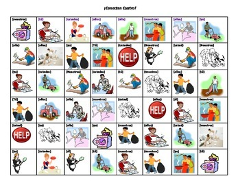 Spanish Game: Connect 4: Chores/los quehaceres