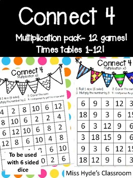 Connect 4 multiplication - 11 games #alliwantforchristmas