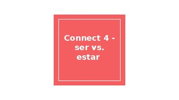 Connect 4: ser vs. estar