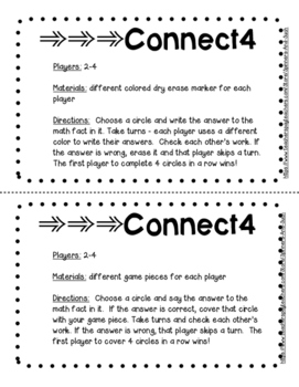 Connect 4 with Basic Math Facts