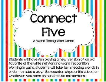 Connect 5   A Word Recognition Game