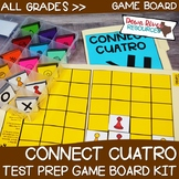 Connect Cuatro Test Prep Review Game Board Set | STAAR | PARCC
