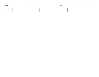 Connect-Extend-Challenge Graphic Organizer