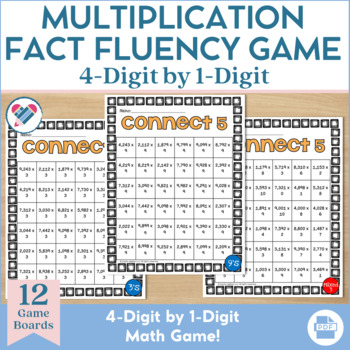 Multiplication Game 4 x 1 Digit
