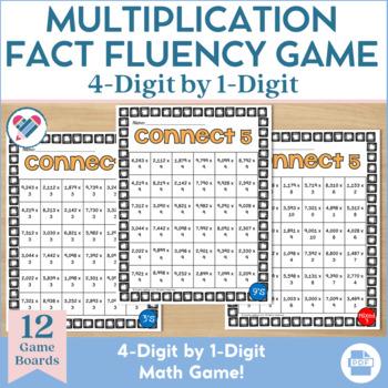 Multiplication Game 4 x 1 Digit