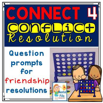 Friendship Conflict Resolution Prompts to be used with the