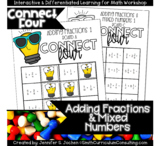 Connect Four Adding Fractions Game | Includes Improper and