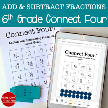 Connect Four: Adding and Subtracting Fractions