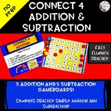 Connect Four Addition and Subtraction Fact Practice