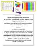 Connect Four: Expressions, Order of Op., Proportions, Percents and Decimals