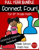 Connect Four: Full Year Bundle - 8th Grade Math