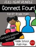 Connect Four: Full-Year Bundle - 6th Grade Math