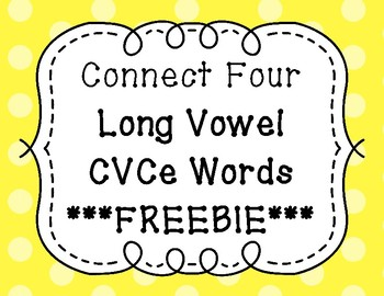 Connect Four Game - Long Vowels CVCe ***FREEBIE***