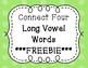 Connect Four Game - Long Vowels ***FREEBIE***