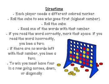 Connect Four Game - Short Vowels CVC