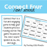 Connect Four Game - Vowel Digraphs AU and AW