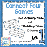 Connect Four High-Frequency and Vocabulary Words - Set 1
