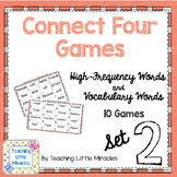 Connect Four High-Frequency and Vocabulary Words - Set 2