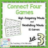 Connect Four High-Frequency and Vocabulary Words - Set 3