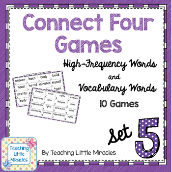 Connect Four High-Frequency and Vocabulary Words - Set 5
