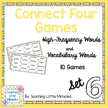 Connect Four High-Frequency and Vocabulary Words - Set 6