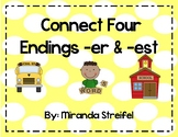 Connect Four-Inflected Endings -er & -est