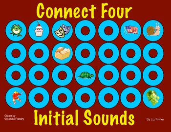 Connect Four Initial Sounds Games