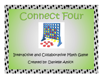 Connect Four Interactive Math Game - Multiplication - 5.NBT.B.5