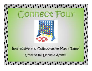Connect Four Interactive Math Game - 5.NBT.B.7 (Addition a