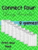 Connect Four Long Vowels - Word Work or Small Group Games