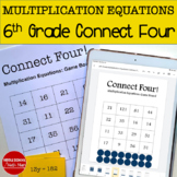 Connect Four: Multiplication Equations