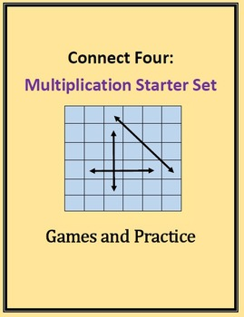 Connect Four: Multiplication Starter Set, Games and Practice