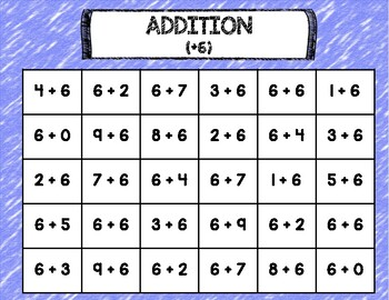 Connect Four: NO PREP Single-Digit Addition (0-9)