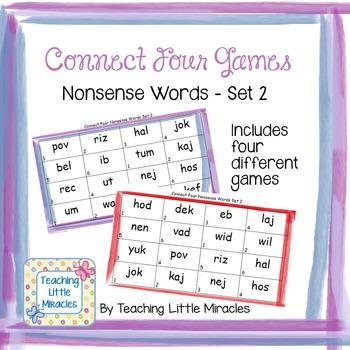 Connect Four Nonsense Words Set 2