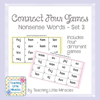 Connect Four Nonsense Words Set 3