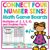Connect Four Number Sense Addition and Subtraction Intervention Game Boards