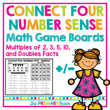 Connect Four Number Sense Addition and Subtraction Interve