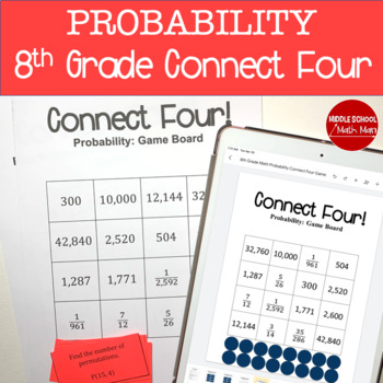 Connect Four: Probability - 8th Grade Math