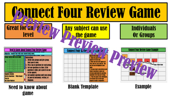 Connect Four Review Game by Welcome to Room 805 | TpT