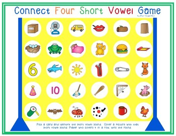 Connect Four Short Vowel Game