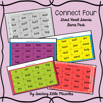 Connect Four Short Vowels Game Pack