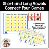 Connect Four: Short and Long Vowel Games
