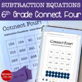 Connect Four: Subtraction Equations
