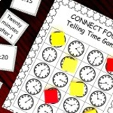 Connect Four Telling Time Game - 2.MD.C.7